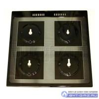 """Стол плиты """"GEFEST"""" 1500 К32 (600*600 мм) черный, под конфорки SABAF (1500.07.0.000-04)"""