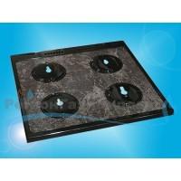 """Стол плиты """"GEFEST"""" 1500 К19 (600*600 мм) коричневый мрамор, под конфорки SABAF"""