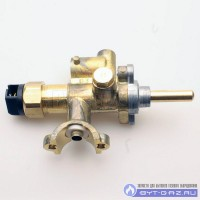 Кран горелки ГМ 10.000.000-04 №60 (под клемму) с газ.контролем (природный газ)